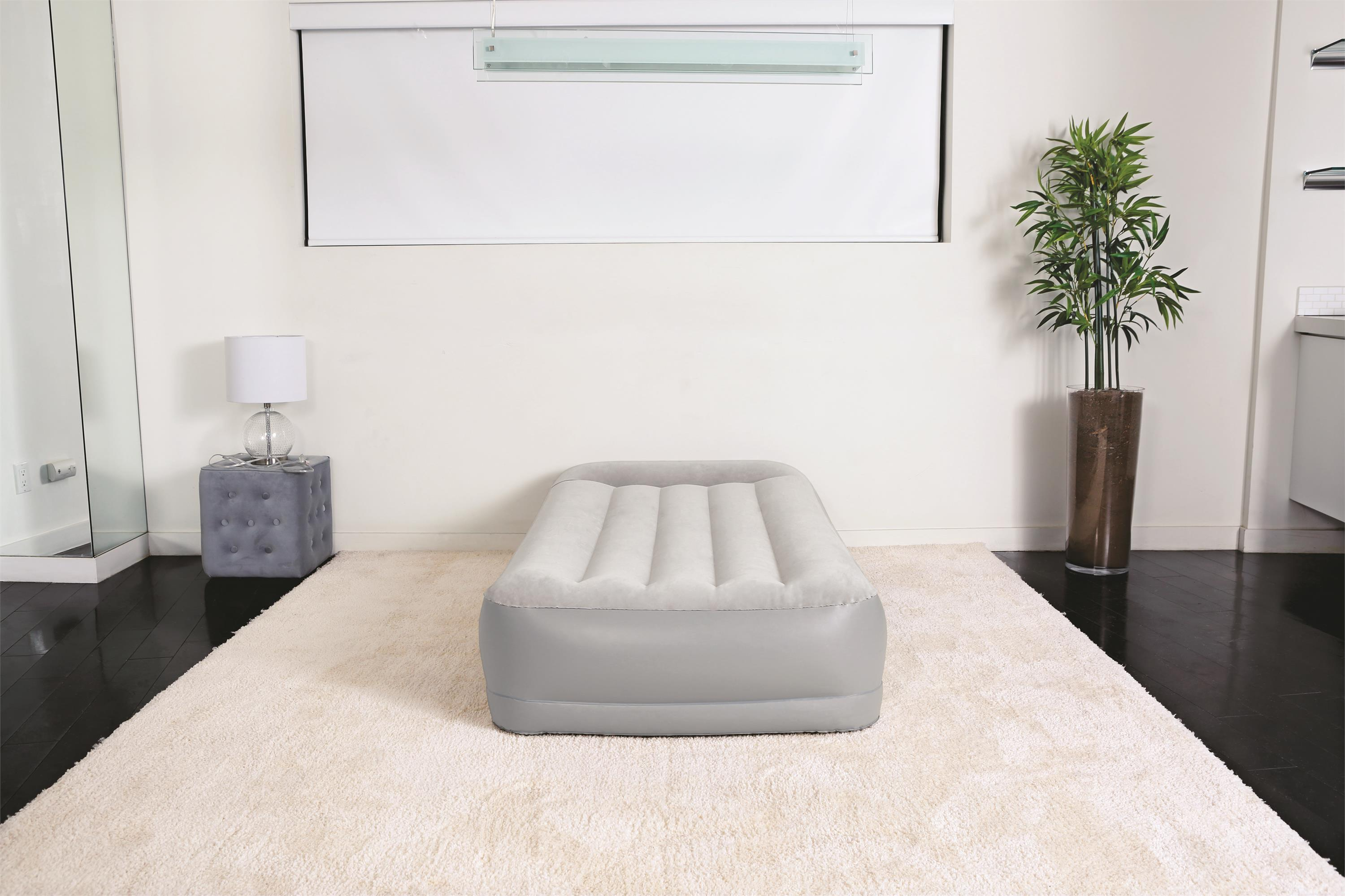 Single double flocking bed