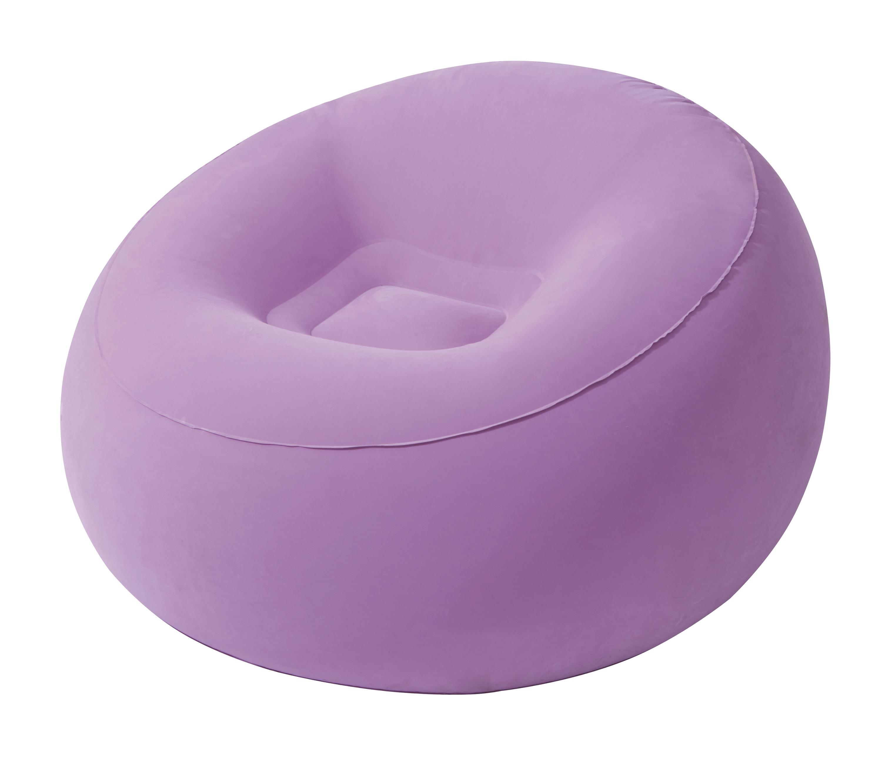 Round flocked sofa