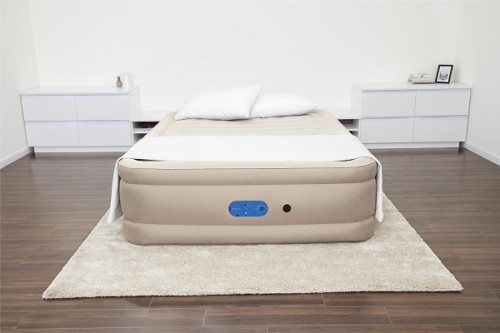 Bestway AlwayzAire Fortech Airbed Queen Built-in Dual Pump 69054 applicable for all