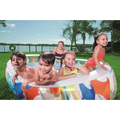 Bestway Elliptic Pool 3-Ring Pool 54066 for child over 6+ ages