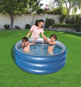 Bestway Big Metallic 3-Ring Pool 51041 for child over 6+ ages