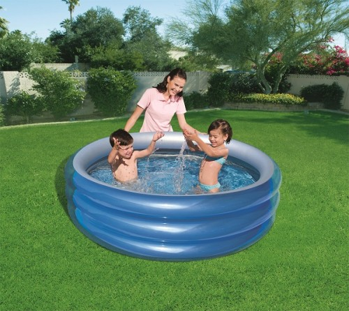 Bestway Big Metallic 3-Ring Pool 51042 for child over 6+ ages