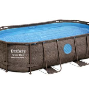Power Steel Swim Vista Series Oval Pool Set 56716 applicable for all