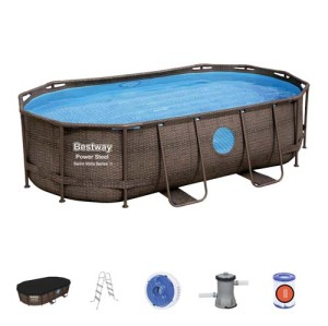 Power Steel Swim Vista Series Oval Pool Set 56714 applicable for all