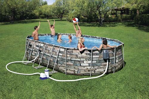 Power Steel Comfort Jet Series Oval Pool Set 56719 applicable for all