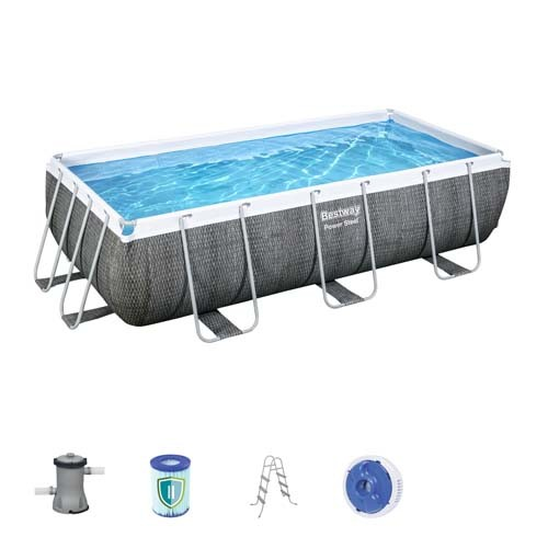 Power Steel Rectangular Pool Set 56721 applicable for all
