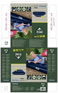 Hydro-Force Airbed Twin Built-in Foot Pump 67224 applicable for all