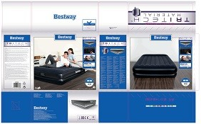 Bestway Tritech Airbed Queen Built-in AC pump 67403 applicable for all