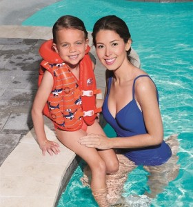 Swim Safe  Boys'/Girls' Deluxe Inflated Vest (with Fabric Liner) 32156 for child ages 3-6