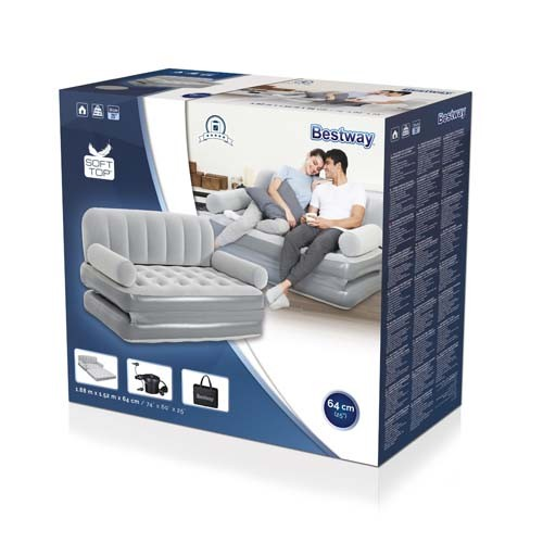 Bestway Multi-Max 3-in-1 Air Couch with Sidewinder AC Air Pump 75073 applicable for all