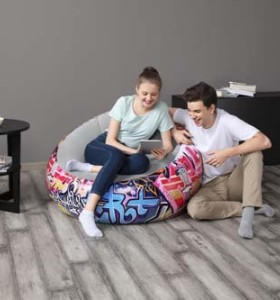 Bestway Inflate-A-Chair Graffiti Air Chair 75075 applicable for all