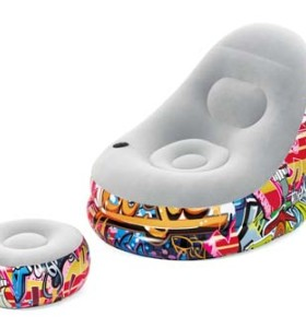 Bestway Comfort Cruiser Graffiti Lounger 75076 applicable for all