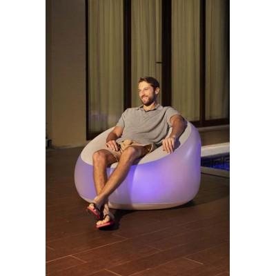 Bestway Inflate-A-Chair LED Air Chair 75086 applicable for all