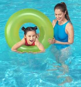 Bestway Frosted Neon Swim Ring 36025 for child ages  10+