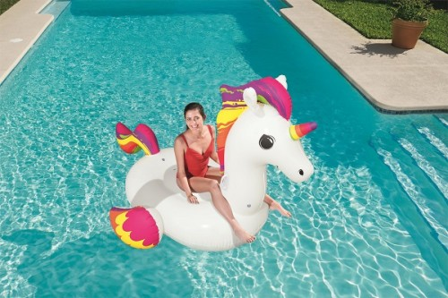 Bestway Supersized Unicorn Ride-On 41113 for child ages 3+