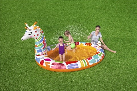 Bestways Groovy Giraffe Sprayer Pool 53089 for child over 2+ ages