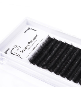 false individual mink volume lashes wholesale flare eyelashes extension with eyelash tool