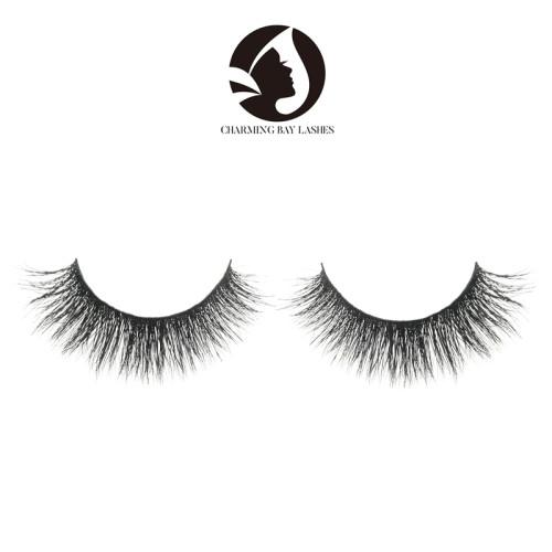 qingdao 100% 5d hand made mink strip false eyelashe siberian mink lashes wholesale