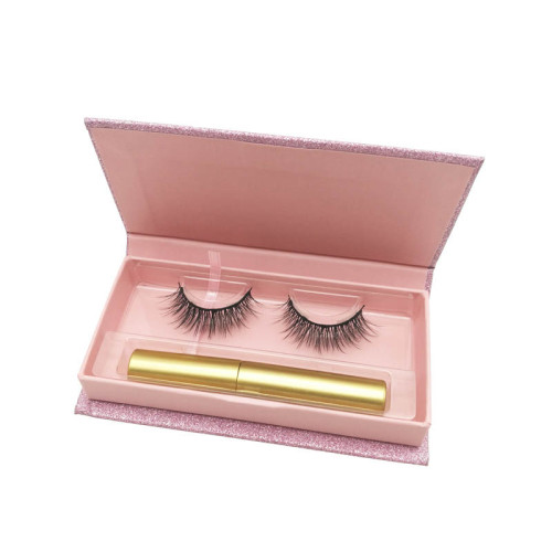wholesale natural wispy eyelashes magnetic false eyelashes with custom eyelash packaging