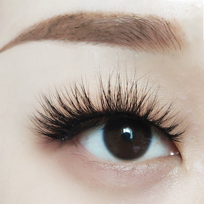 qingdao natural mink eyelash 100% handmade 5d luxury fluffy real mink eyelashes for makeup