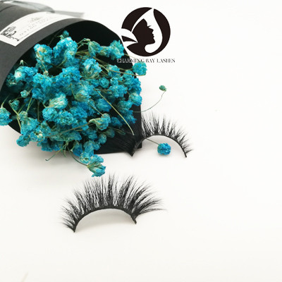 4D natural mink eyelash own brand wholesale eyelashes 3d mink Lashes