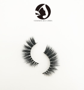 custom eyelash packaging 100% handmade 5d real mink long magnetic false eyelashes for makeup