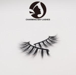 100% real 3d siberian mink fur eyelashes custom package vendor beauty lady eyelashes
