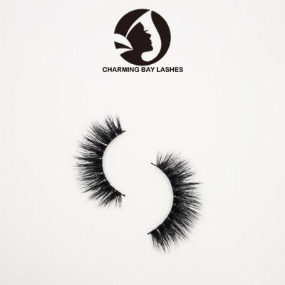 3 pairs 3d natural mink false eyelashes boxes private label