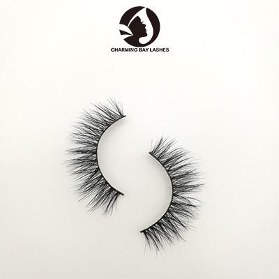 3 pair 100% siberian mink fur 25mm false 3d eyelashes mink