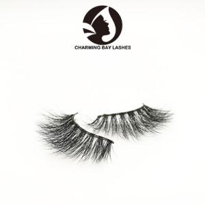 custom fluffy eyelashes faux mink free shipping human hair 100%