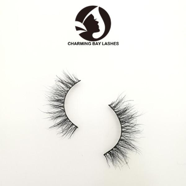 cheap false clear band eyelashes natural own brand package box custom