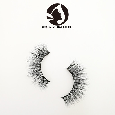 cruelty free custom false eyelashes  wispy with custom logo packaging