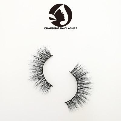 cruelty free custom false eyelashes  wispy with custom logo packaging