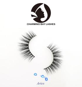 natural long strip false eyelashes wholesale with eyelash glue private label