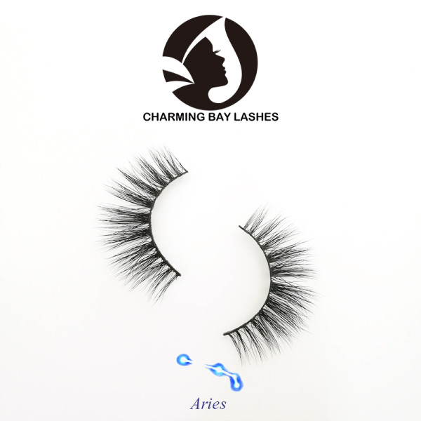 natural long strip false eyelashes wholesale with eyelash glue private label