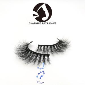 mink 3d lashes wholesale false fluffy mink luxury 3d eyelashes with private logo