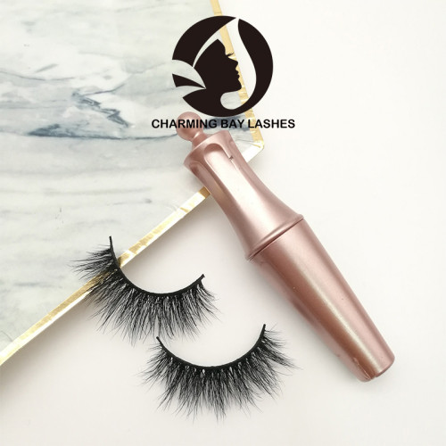 handmade free sample mink fur lashes 10 pairs and packaging