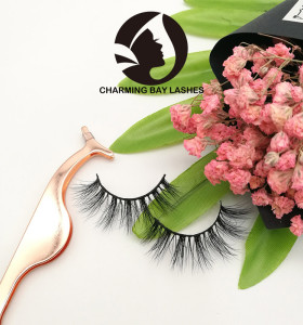 custom logo box mink eye lashes mink 3d fake eye lashes