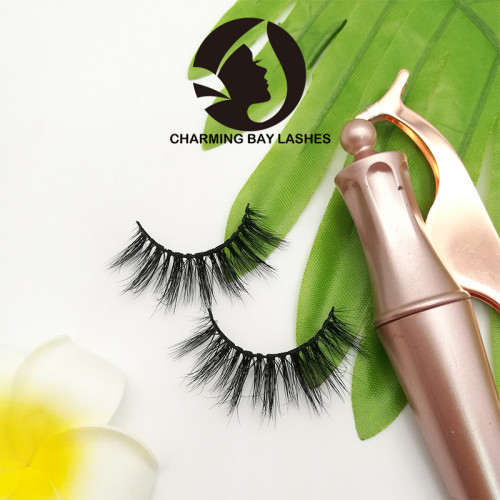 high quality faux mink lashes 3 d custom box with logo luxury lashes