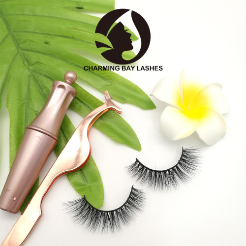 individual lashes eyelashes mink invisible band luxury 3d mink lashes with custom packaging