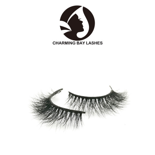 luxurious invisible band mink 3d false lashes cruelty free private label