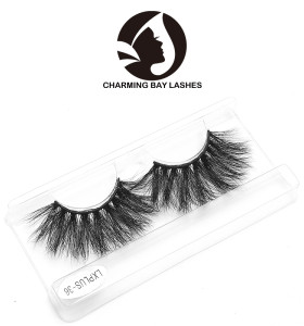 100% mink fur material 25mm 3d mink eyelashes with custom lashes best price permanent with free private labels