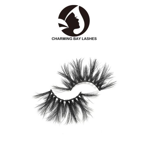 best quality 100% natural material 3d mink lashes 25mm cheap 3d mink eyelash factory