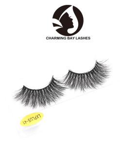 best rated natural looking 100% real 25mm 3d eyelash mink lashes 3d mink eyelash for make up
