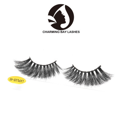 best selling 3d layered effect 100% real 25mm false 3d mink eyelashes strip false eyelashes for your beauty logo lashes
