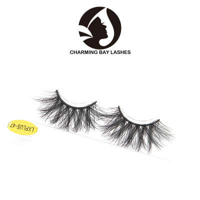 25mm lash strip 3d mink eyelash and custom package wholesale black 3d luxury mink eyelashes
