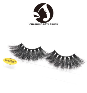 25mm length black band private label 100% real 3d mink fur eyelashes 3d mink eyelash bulk 3d luxury mink lashes