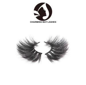 25mm length black band private label 100% real 3d mink fur eyelashes 3d mink eyelash bulk 3d luxury mink lashes