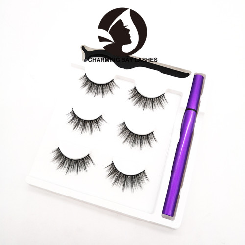 mink lashes and packaging 2020 new 3d mink eyelashes magic eyeliner glue with customized logo