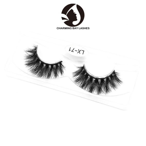 self adhesive mink individual lashes clear band no label lashes private label faux mink lashes
